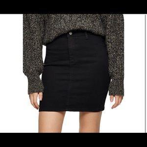 Topshop Petite High Waisted Joni Denim Skirt